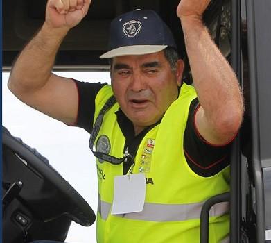 """Equipo de BeOT en la competencia de Scania """"Mejor Conductor de Camiones 2014"""" en Chile"""