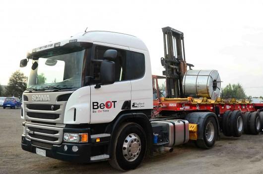 Camiones para transporte de Bobinas de Acero BeOT